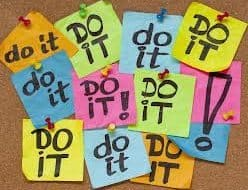 get started now just do it